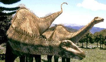 le diplodocus du documentaire sur la terre des dinosaures